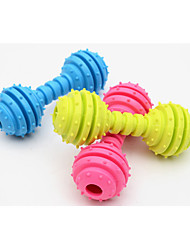 cheap -Chew Toy Interactive Cat Toys Fun Cat Toys Cat Dog 4 Dumbbell Rubber Gift Pet Toy Pet Play