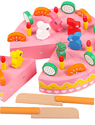 cheap -Toy Food / Play Food Pretend Play Fruit Cake Magnetic Wooden Toy Gift