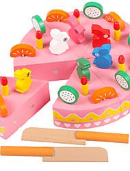 Недорогие -Игрушечная еда Ролевые игры Фрукт Торты Магнитный деревянный Игрушки Подарок