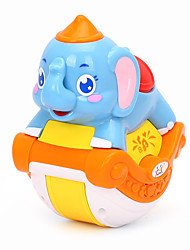 cheap -Dollhouse Accessory Educational Toy Model Building Kit Elephant Animals Music Lovely Simulation Plastics For Baby