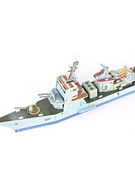 cheap -3D Puzzle Jigsaw Puzzle Model Building Kit Warship Aircraft Carrier Ship DIY High Quality Paper Classic Kid's Unisex Boys' Girls' Toy Gift