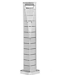 Недорогие -3D пазлы Пазлы Металлические пазлы Башня Знаменитое здание Эйфелева башня Металлические Железо Алюминий Детские Взрослые Универсальные Мальчики Девочки Игрушки Подарок