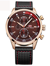 cheap -Men's Sport Watch / Military Watch / Wrist Watch Japanese Calendar / date / day / Water Resistant / Water Proof Genuine Leather Band Charm / Luxury / Vintage Black / Blue / Stainless Steel