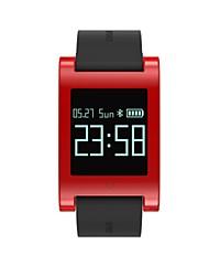 Недорогие -Муж. Смарт Часы Цифровой силиконовый Черный Цифровой Черный Красный