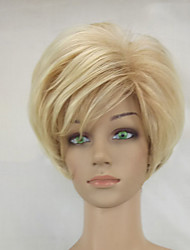 cheap -Synthetic Wig Straight Straight Layered Haircut Wig Blonde Short Beige Blonde Synthetic Hair Women's Blonde hairjoy