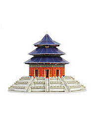 cheap -3D Puzzle Jigsaw Puzzle Famous buildings Chinese Architecture Temple of Heaven Furnishing Articles Wooden Chinese Style Unisex Toy Gift