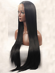 cheap -Synthetic Lace Front Wig Straight Straight Lace Front Wig Long Natural Black Synthetic Hair Women's Black