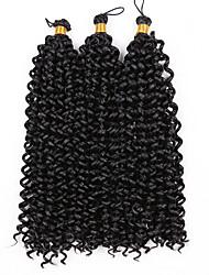 cheap -Braiding Hair Curly Water Wave Curly Braids 100% kanekalon hair Kanekalon 3 Pieces 15 Roots Hair Braids Medium Length Ombre Braiding Hair