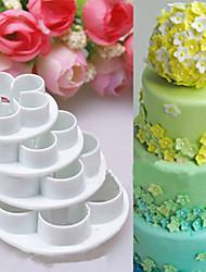 cheap -4Pcs/Set Rose Flower Cake decorating tools Cupcake Kitchen fondant Kitchen accessories Cake mold Stand cozinha cookie cutter