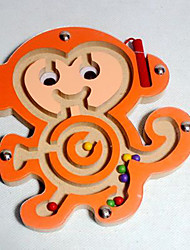cheap -Maze Paternity Game Magnetic Maze 1 pcs Wooden Magnetic Monkey Kid's Toy Gift
