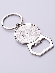cheap -Useful Beer Bottle Opener Key Chain Silver Color Calendar Fashion Design Clasp Round Circle Connected Key Rings Key Holder