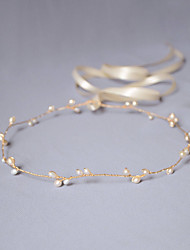 cheap -Imitation Pearl Headbands / Head Chain / Hair Tool with 1 Wedding / Special Occasion / Anniversary Headpiece
