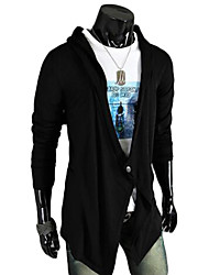 cheap -Men's Athleisure / Weekend Active Solid Colored Long Sleeve Butterfly Sleeves Long Cardigan Sweater Jumper, V Neck Spring / Summer Black / Dark Gray M / L / XL
