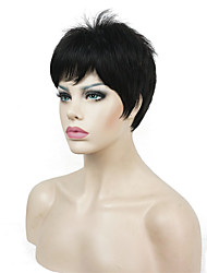 cheap -Synthetic Wig Straight Straight Pixie Cut Wig Blonde Short Dark Brown Synthetic Hair Women's Blonde White StrongBeauty