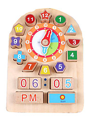 cheap -Montessori Teaching Tool Wooden Puzzle Math Toy Time Teaching Clock Educational Toy Education Wooden Kid's Toy Gift