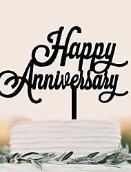 cheap -Cake Topper Birthday Wedding High Quality Plastic Party Birthday with 1 PVC Bag