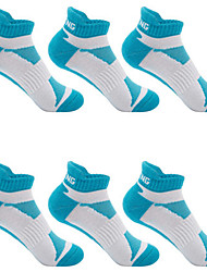 cheap -Compression Socks Athletic Sports Socks Running Socks 6 Pairs Cushion Women's Socks Ankle Socks Fitness, Running & Yoga Limits Bacteria Sports Running Sports Simple Chinlon Nano Silver Cotton Blue