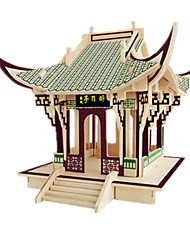 cheap -3D Puzzle Model Building Kit Wooden Model Famous buildings Furniture House DIY Wooden Classic Kid's Unisex Boys' Girls' Toy Gift