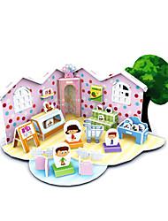 cheap -3D Puzzle Jigsaw Puzzle Model Building Kit Famous buildings House DIY Card Paper Classic Cartoon Kid's Unisex Toy Gift