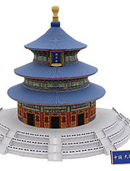 cheap -3D Puzzle Paper Model Model Building Kit Famous buildings Chinese Architecture Temple of Heaven DIY Hard Card Paper Classic Chinese Style Kid's Unisex Boys' Toy Gift