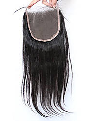 cheap -Silk Straight 5x5inch Lace Closure Human  Hair Top Lace Closure with Baby Hair