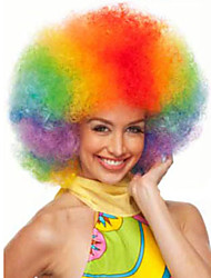cheap -afro jumbo festival fans wig clown rainbow costume halloween dress up party wigs synthetic hair Halloween