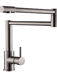 cheap -Kitchen faucet Nickel Brushed Centerset Contemporary Kitchen Taps
