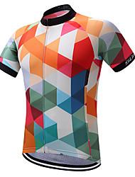 cheap -SUREA Men's Cycling Jersey Argyle Bike Shirt Sweatshirt Jersey Mountain Bike MTB Road Bike Cycling Quick Dry Reflective Strips Sweat-wicking Sports Polyester Coolmax® 100% Polyester Clothing Apparel