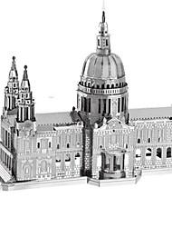Недорогие -3D пазлы Пазлы Металлические пазлы Башня Знаменитое здание Эйфелева башня Металлические Железо Алюминий Детские Взрослые Мальчики Девочки Игрушки Подарок