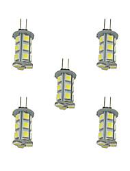 cheap -5pcs 2.5 W LED Bi-pin Lights 198 lm G4 18 LED Beads SMD 5050 Warm White White 12 V / 5 pcs