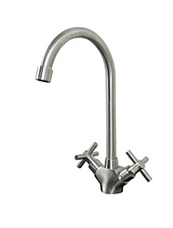 cheap -Kitchen faucet Brushed Tall / ­High Arc Vessel Modern Contemporary Kitchen Taps