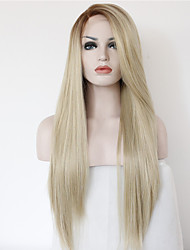 cheap -Synthetic Lace Front Wig Straight Straight Lace Front Wig Blonde Long Blonde Synthetic Hair Women's Ombre Hair Blonde Brown