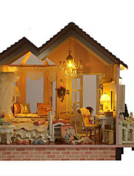 cheap -CUTE ROOM Model Building Kit DIY Furniture House Plastics Wooden Classic Unisex Toy Gift