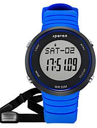 cheap -Men's Fashion Watch Smartwatch Digital Rubber Black / Blue / Red 30 m Water Resistant / Waterproof Pedometers Digital Black Red Blue