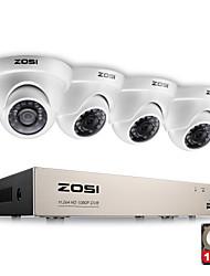Недорогие -zosi® 4ch 1080p полная защита видео высокой четкости с 4x 2.0mp 1080p камерами с защитой от атмосферных воздействий 1tb жесткий диск