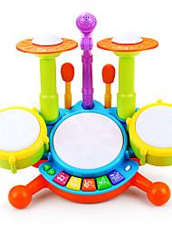Недорогие -Барабанная установка Обучающая игрушка Барабанная установка Перезаряжаемый Пластик для Детские