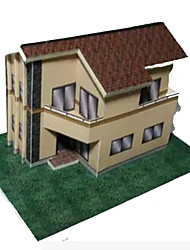 cheap -3D Puzzle Paper Craft House DIY Hard Card Paper Kid's Unisex Toy Gift