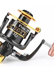 abordables -Reel Fishing Roulement Moulinet spinnerbait 5.2:1 Braquet+13 Roulements à billes Orientation à la main Echangeable Pêche d'eau douce / Pêche au leurre / Pêche générale - DC4000