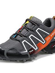 cheap -Men's Comfort Shoes Faux Leather Fall / Winter Athletic Shoes Hiking Shoes Black / Blue / Gray / Split Joint / EU40