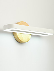 """cheap -LED Vanity Light Wall Lamps Wooden Wall Sconces 11.22""""(28.5cm) 8W Bamboo Fresh Nordic Style White Downlight Ambient for Home Shop Cafe Bedside"""
