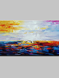 cheap -Oil Painting Hand Painted - Abstract Abstract Modern Rolled Canvas