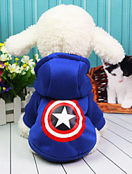 cheap -Dog Costume Coat American / USA Casual / Daily Winter Dog Clothes Red Blue Costume Cotton XS S M L XL