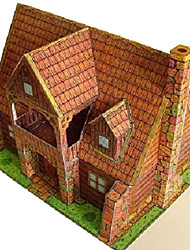 cheap -3D Puzzle Famous buildings House DIY Hard Card Paper Unisex Toy Gift