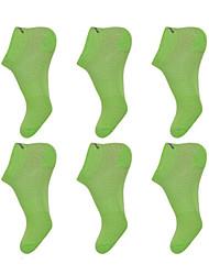 cheap -Compression Socks Athletic Sports Socks 6 Pairs Men's Women's Socks Ankle Socks Fitness, Running & Yoga Limits Bacteria Sports Running Sports Simple Cotton Chinlon Orange Daffodil Green / Stretchy