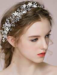 cheap -Rhinestone / Alloy Headbands / Headwear / Head Chain with Floral 1pc Wedding / Special Occasion / Anniversary Headpiece