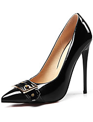 cheap -Women's Heels Stiletto Heel Pointed Toe Bowknot Leatherette Comfort Spring / Fall Black / Red / Almond / Party & Evening / Dress / Party & Evening
