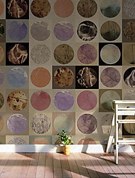 cheap -Tile Pattern Home Decoration Modern Wall Covering, Non-woven fabric Material Adhesive required Mural, Room Wallcovering
