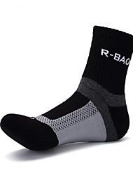 cheap -Compression Socks Athletic Sports Socks Cycling Socks Men's Yoga Running Hiking Bike / Cycling Anatomic Design Protective 1 Pair Cotton Spandex Chinlon Black White Blue L-XL / Stretchy