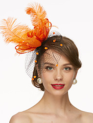 cheap -Net Kentucky Derby Hat / Fascinators / Hats with 1 Wedding / Special Occasion / Horse Race Headpiece