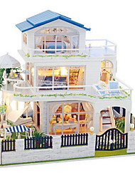 abordables -Jouet A Assembler Kit de Maquette A Faire Soi-Même Bâtiment Célèbre Meuble Maison Plastique En bois Classique Unisexe Jouet Cadeau